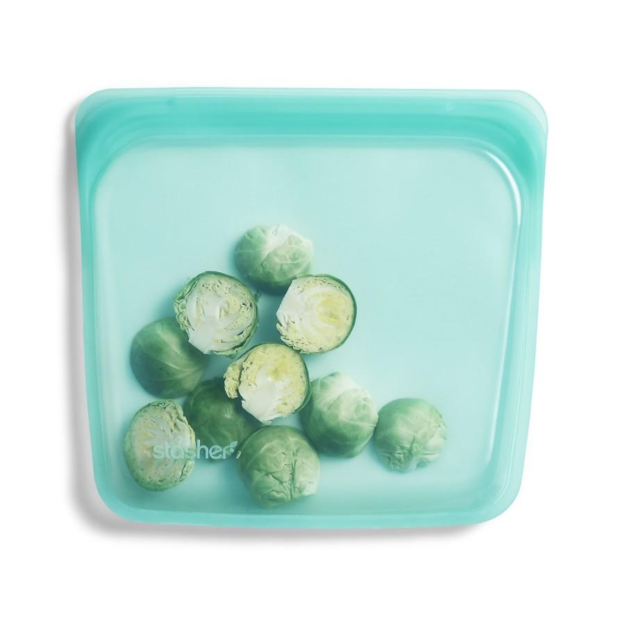 Daugkartinio naudojimo silikoninis stasher sumuštinių maišelis Aqua R00085