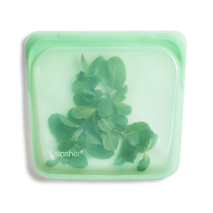 Daugkartinio naudojimo silikoninis stasher sumuštinių maišelis Mėta R00089
